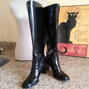Vintage Enzo Angiolini Zip Front Leather Boots